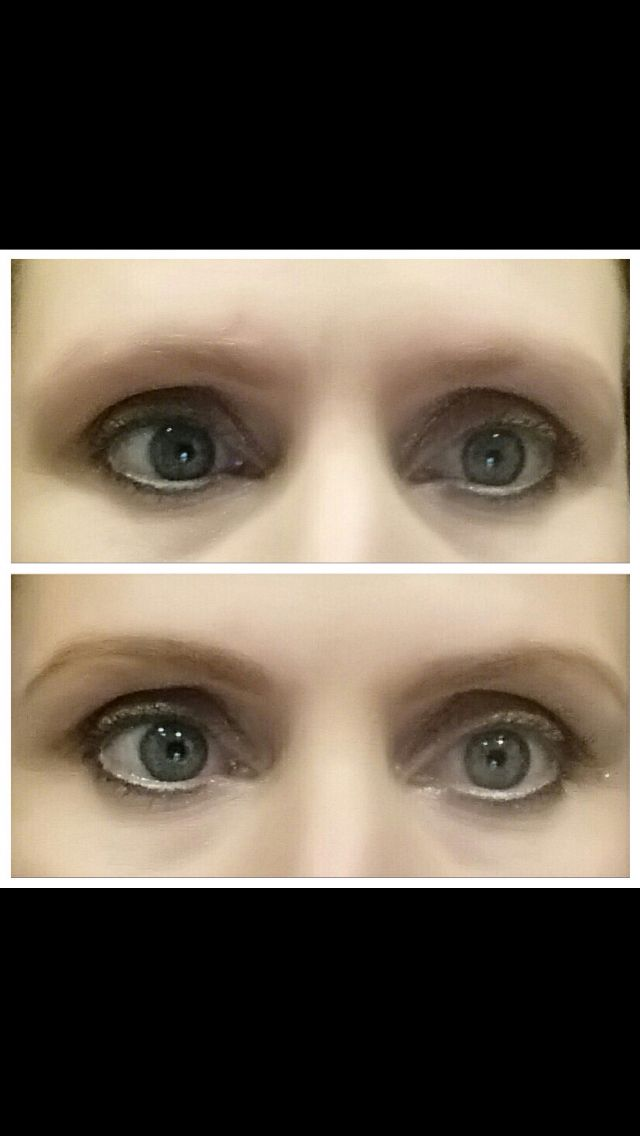 """I helped my friend with her """"no eyebrow"""" problem.  A little younique eyebrow pencil and brow gel in the color light and she has brows again :)  Contact me for more info :)"""