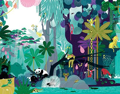 """Check out new work on my @Behance portfolio: """"The very jungly jungle book"""" http://on.be.net/1L1JasT"""