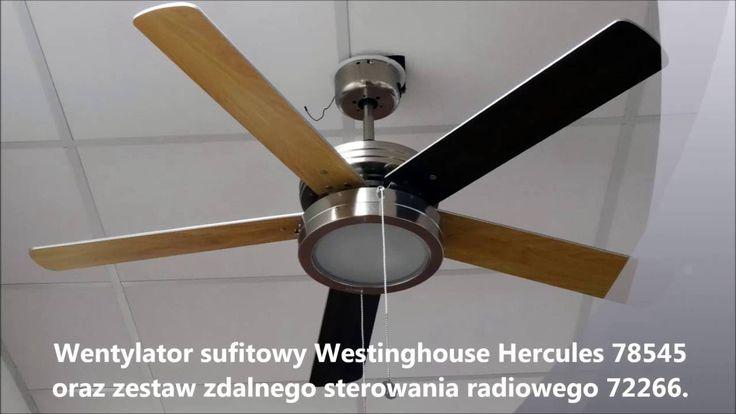 Wentylator sufitowy Hercules 78545 montaz i prezentacja