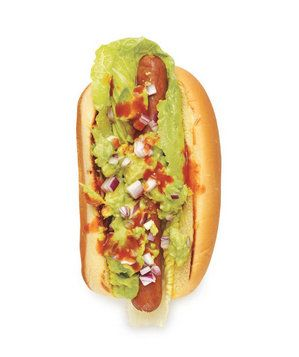 Guacamole Dog | Let's be frank: Ketchup and mustard can get a little boring. These unexpected hot dog toppings are something to relish.
