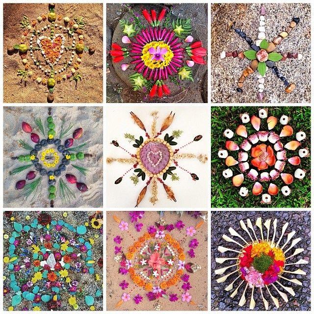 Earth Offering Mandalas by @daughterofthesun_