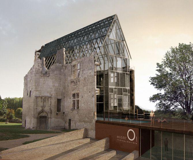 PROGRAMME// Équipement public château Barrière  LIEU// Périgueux  MAITRE D'OUVRAGE// Concours PW 2006 MAITRE D'OEUVRE// LA ARCHITECTURES + Faustine Blaess