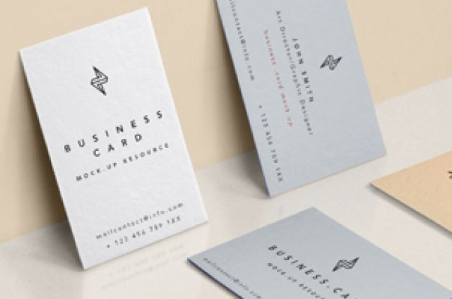 A new front and back psd business card mockup to showcase your branding designs with style. You can add your own...