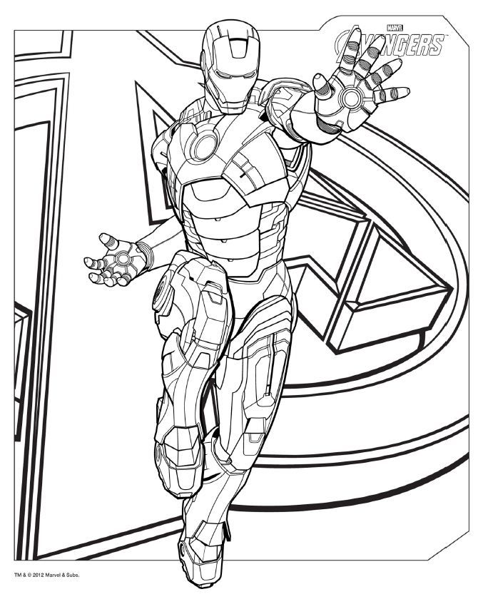 download avengers coloring pages here ironman