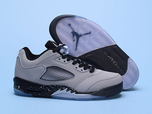 Air Jordan 5 V Low Mens Basketball Shoes Grey Black,Price:$48