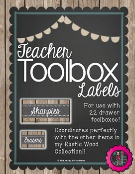 These rustic wood labels are perfect for your teacher toolbox!  With over 30 different labels, they will add a vintage style to your classroom.