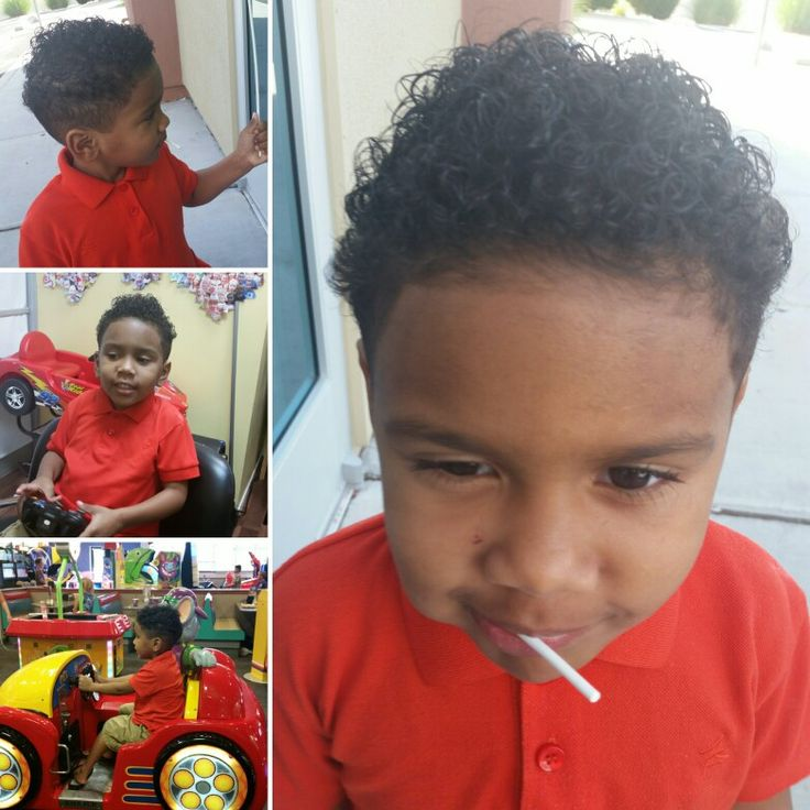 Toddler Curly Tapered Fade Natural Being Pinterest