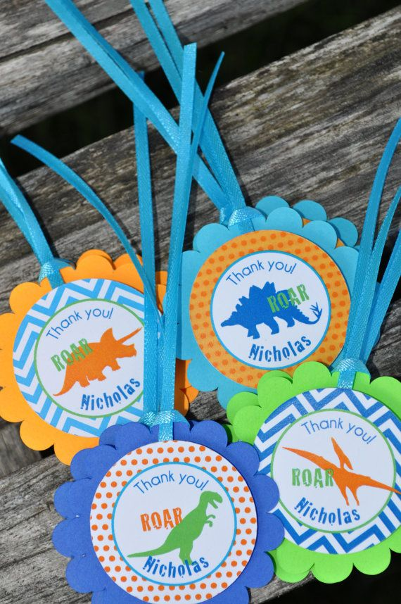 Dinosaur Party Favor Tags Dinosaur Theme by sosweetpartyshop