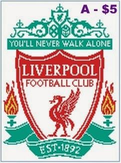 EASY PATTERNS: Liverpool FC cross-stitch pattern