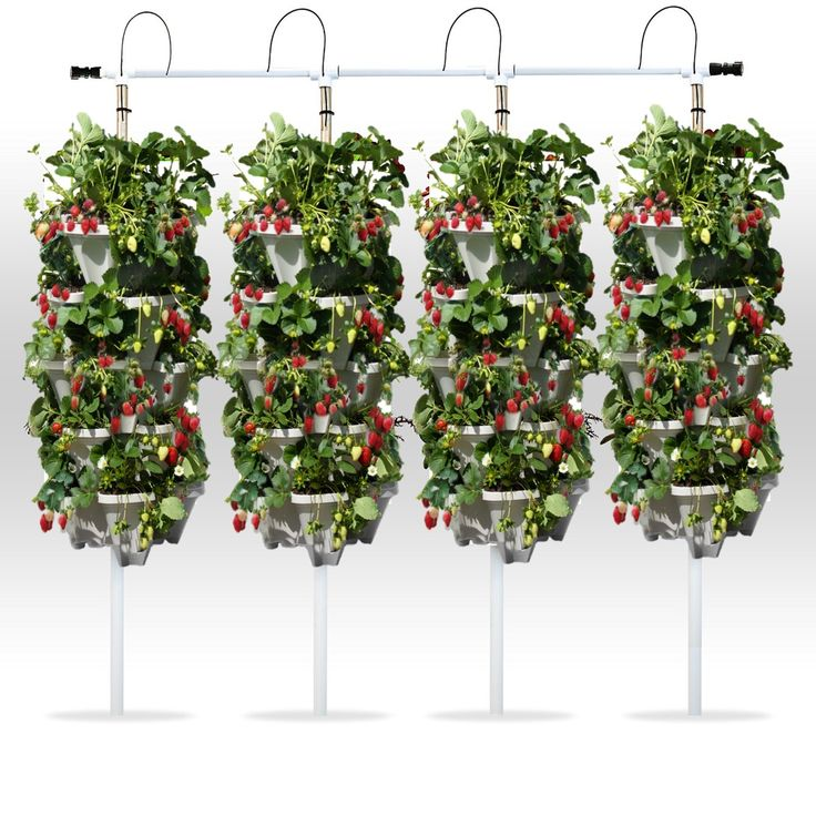 4 tower diy vertical hydroponic garden kit with images