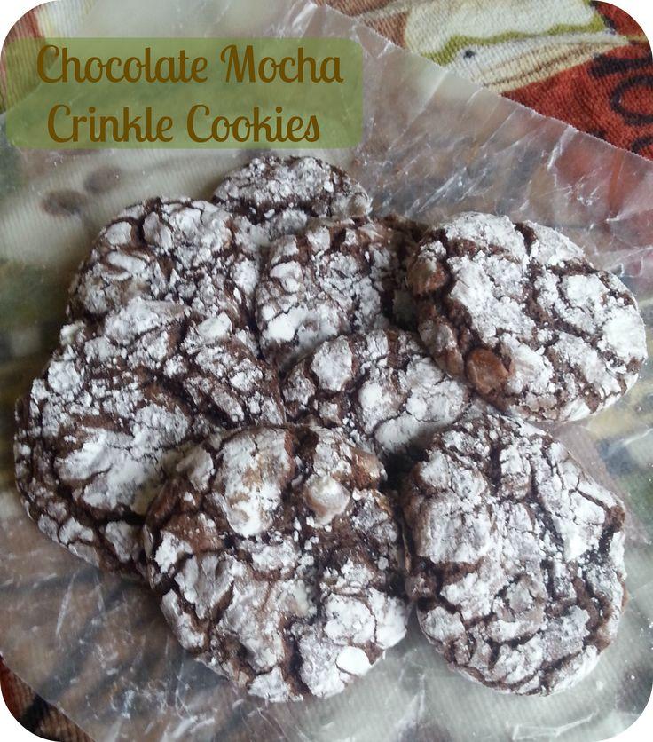 The Better Baker: Chocolate Mocha Crinkle Cookies (cake mix base}