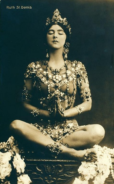 One mom of modern dance. Ruth St. Denis in Radha, 1906 (via http://www.flickr.com/photos/nypl/)