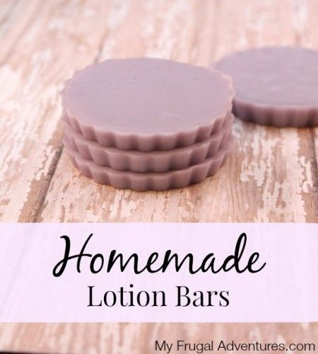 Easy Homemade Lotion Bars- perfect way to stay moisturized year round or make these up for a beautiful homemade gift!
