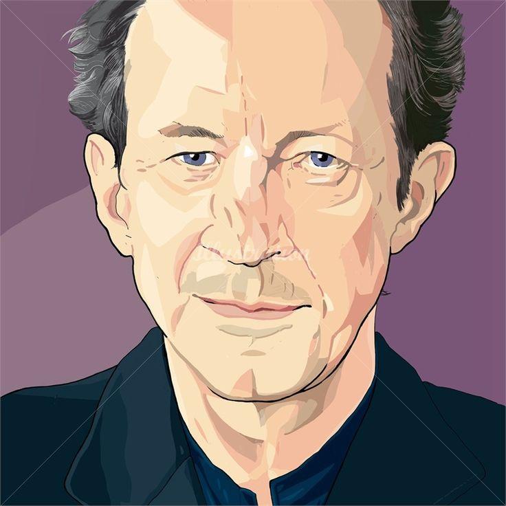 Portrait of Giorgio Agamben illustration by Jonathan Allardyce