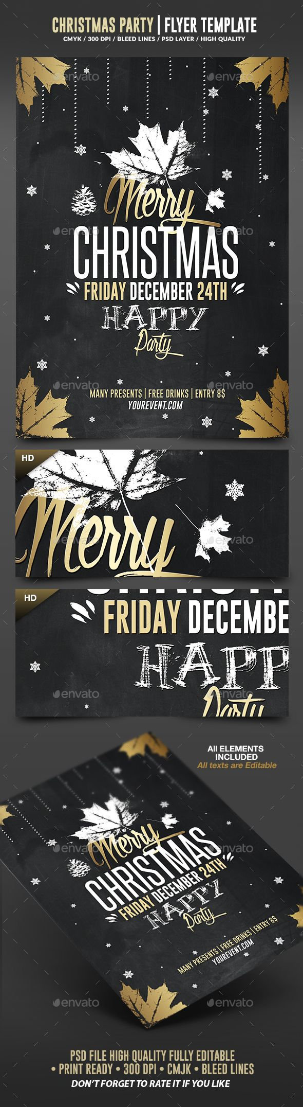 Merry Christmas 2016 Flyer Template PSD #design #xmas Download: http://graphicriver.net/item/christmas-2016-psd-flyer-template/13736107?ref=ksioks