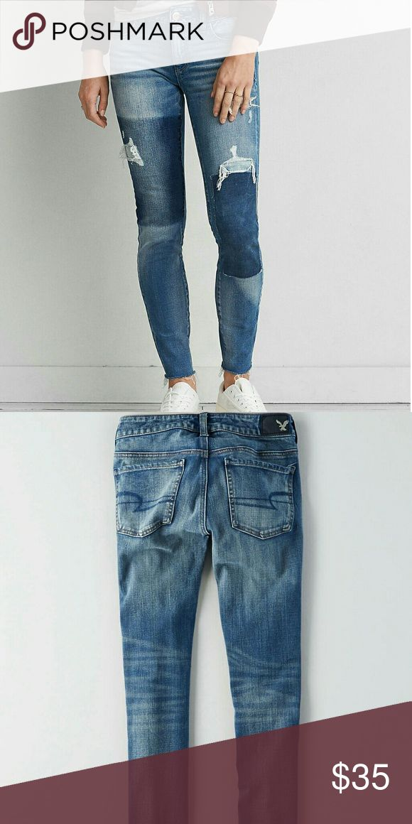 AEO DENIM X4 JEGGING New.Never worn.Size 2 X-Long American Eagle Outfitters Jeans Skinny