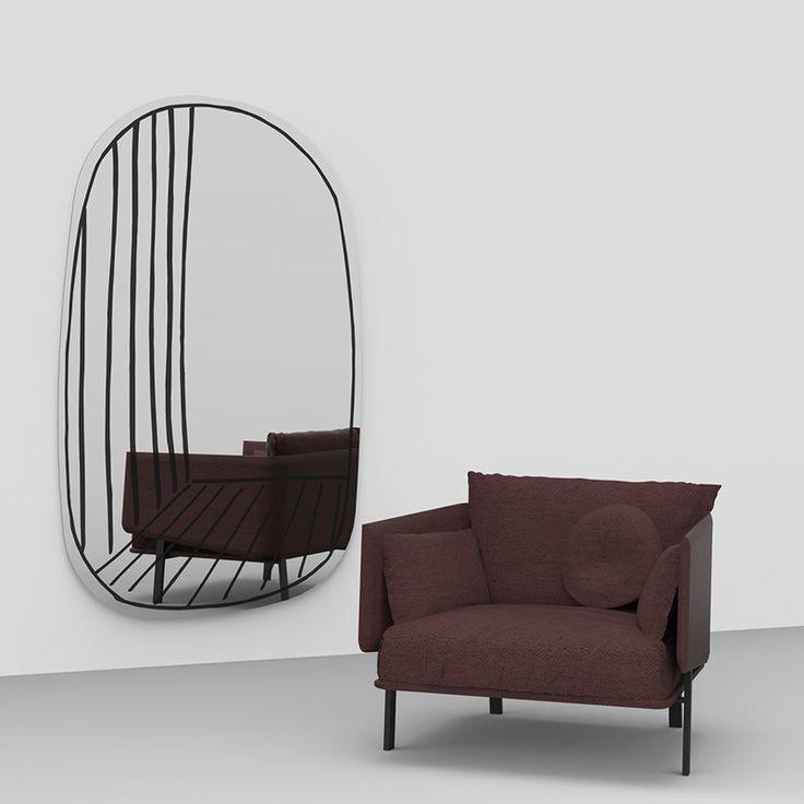 Grande specchio da parete New Perspective Mirror Bonaldo