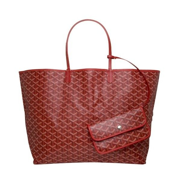 Goyard St. Louis GM Tote in Red : Star Style ❤ liked on Polyvore
