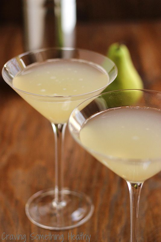 Ginger Pear Martini or Mocktail|Craving Something Healthy