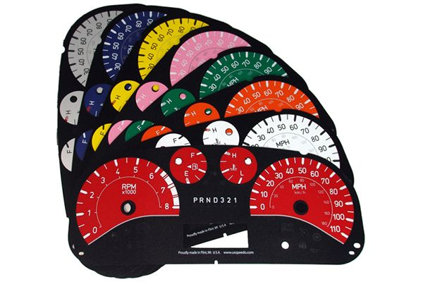 2003, 2004, 2005 Chevy Silverado Gauge Faces - US Speedo AQGM01 ...
