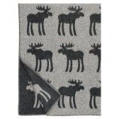 Love a moose! Hirvi Charcoal & Silver Finnish Wool Blankets