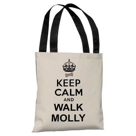 Perfect for toting farmers' market finds and daily work essentials, this charming tote bag showcases a personalized typographic motif. Made in the USA.   ...