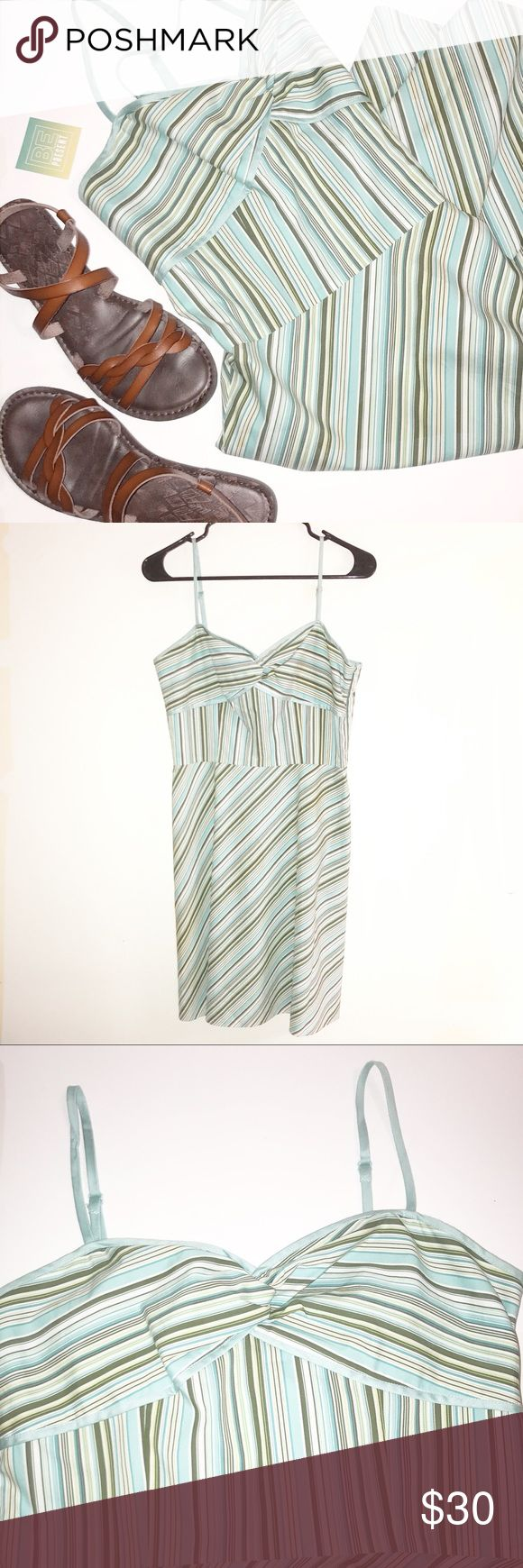 Ann Taylor Loft Dress Size 8 Petite Adorable Ann Taylor Loft spaghetti strap dress size 8petite. Gently used, EUC. No known wear- please see pictures. Great summer dress! Ann Taylor Loft Dresses