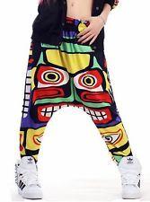 Hip Hop Fashion Drop Crotch dance women harem trousers loose doodle sweatpants