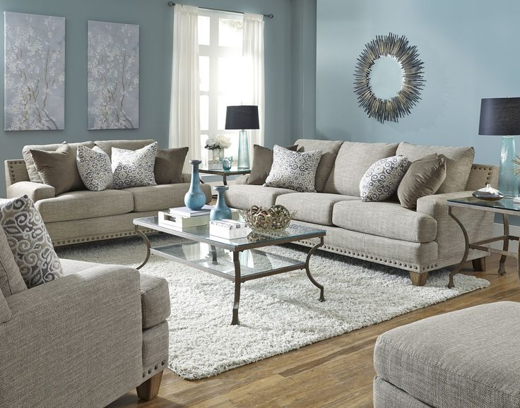 864 - The Hobbs Living Room Set - Cream
