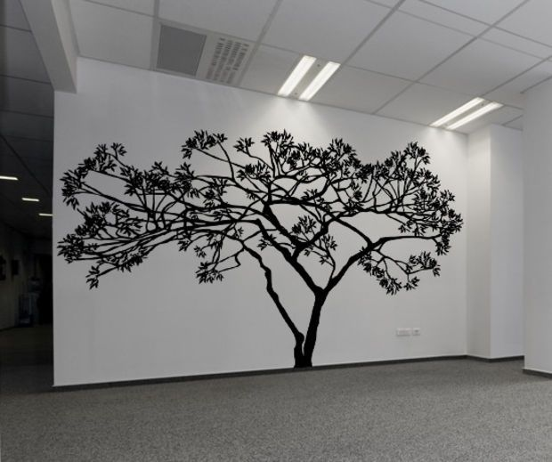 Vinyl Wall Decal Sticker Wide Tree #AC156