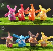 Kawaii mini casa de moinho de vento para casa Decoração musgo figura Brinquedos terrários/casa de boneca/jardim de fadas em miniatura DIY acessórios materiais(China (Mainland))