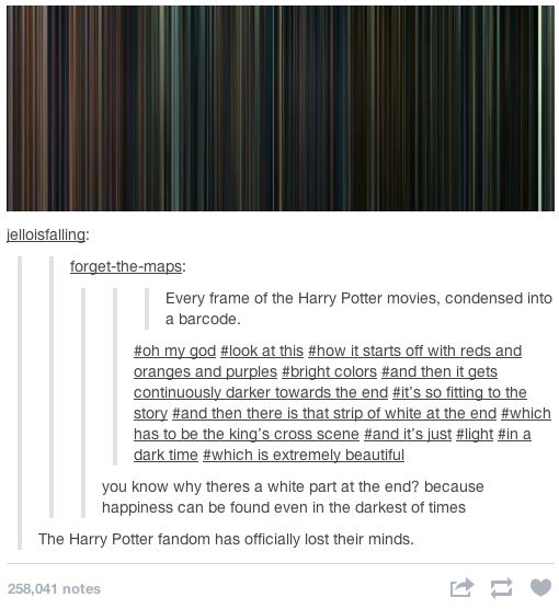 Every frame in the Harry Potter movies