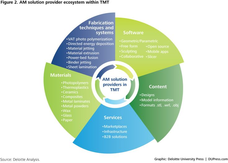 DUP-1360_Figure 2. AM solution provider ecosystem within TMT