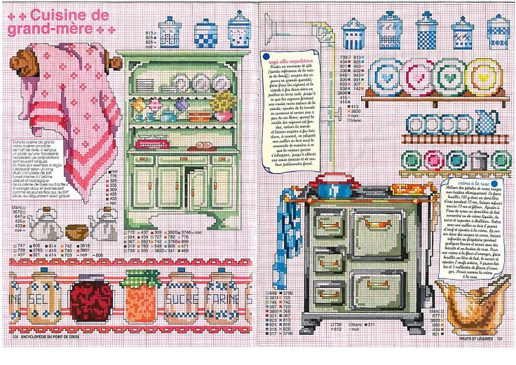 867 best cross stitch and embroidery images on pinterest for Cross stitch kitchen designs