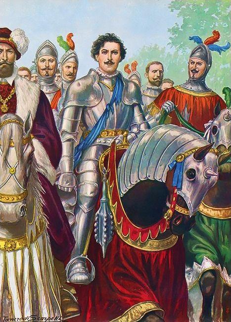 Ettore Fieramosca after the Battle of Barletta in 1503