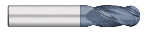Kodiak Cutting Tools O8-G61J-HPXK USA Made Ball Nose Premium Carbide End Mill, AlTiN Coated, 4 Flute, 3/8