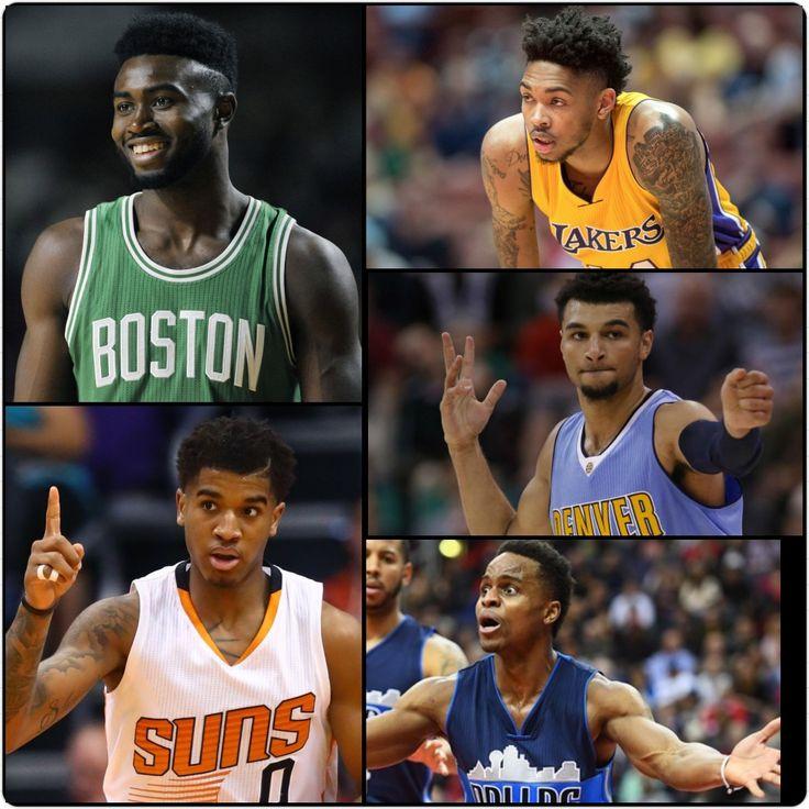 2017 NBA All-Rookie Second Team: Jaylen Brown (F), Marquese Chris (C), Brandon Ingram (F), Jamal Murray (G), & Yogi Ferrell (G).