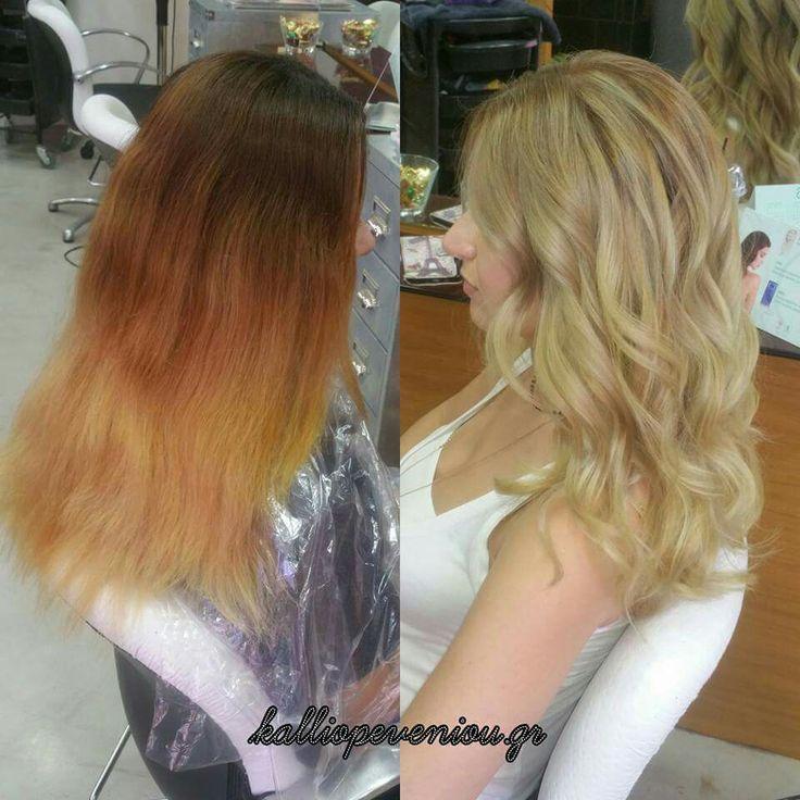 Καλοκαιράκι. . . Ώρα για αλλαγές! ! Οι αλλαγές όμως χρειάζονται τα κατάλληλα χέρια και τα σωστά εργαλεία!  Εμπιστεύσου τους ειδικούς!  Εμπιστεύσου τον γιατρό των μαλλιών σου!  #makeover #malibuc #blondehair #makemeblonde #trusttheexperts #kalliopeveniou #beauty #viphall #vipservices #lovemyjob #beunique #justbehappy #asblondeasitgets #fibreplex #schwarzkopf #greece #hairdressing #hairsalon #hairtransformation #hairdoctor