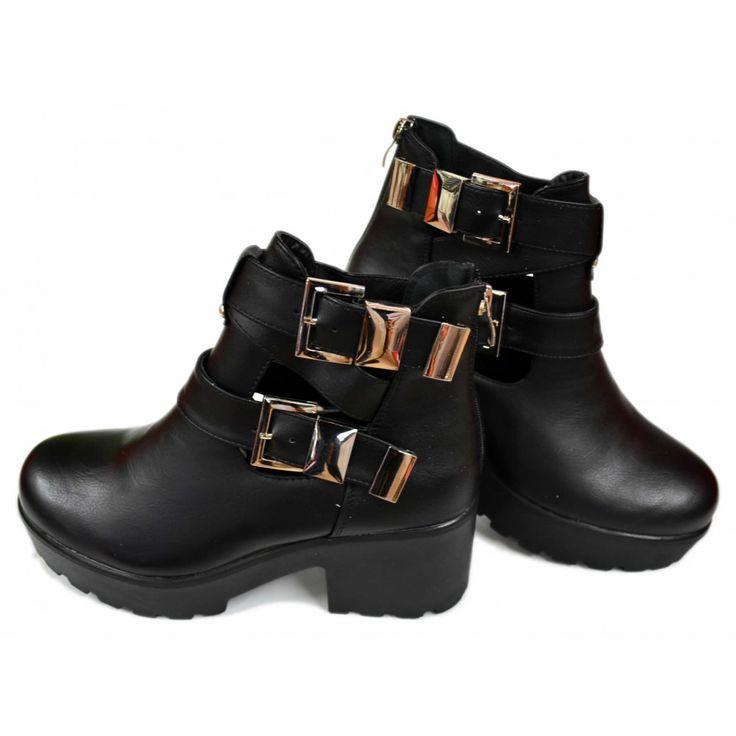 Open Chelsea Boots met Double Riem Details DL089 | Modedam.nlVindt de beste enkellaarsjes tegen de scherpste prijs!!Ontdek een ruime selectie van laarzen en bekijk ons geweldig aanbod van glamourious schoenen.* Schoenen Laarzen* Shoe (model) Klassieke scho