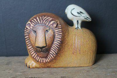 "Lisa Larson ""Lejon med fågel"" Sweden"