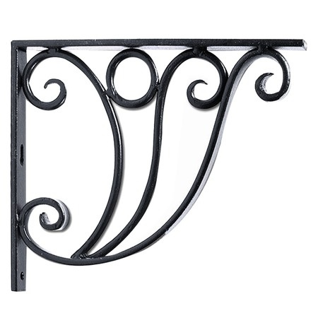 achla designs ionic shelf and flower box bracket the ionic shelf and flower box bracket can support a deep shelf and as a deco design that features an end
