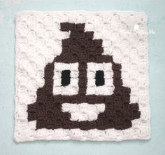 """If you've been following my Emoji C2C graphgan you've seen the 9 Emoji face squares I've created. But this project wouldn't be complete without the poop emoji! I've created a """"Poop Pillow"""" to go with my Emoji face graphgan! And for those who don't fancy the poop emoji, I've also created a """"Prayer Pillow"""" as …"""