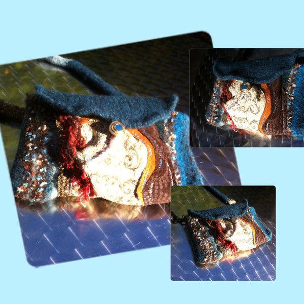 Handtasche - TASCHE, LA REGINA DEL LAGO,petrol,türkis,retro - ein Designerstück von GretesTraum bei DaWanda
