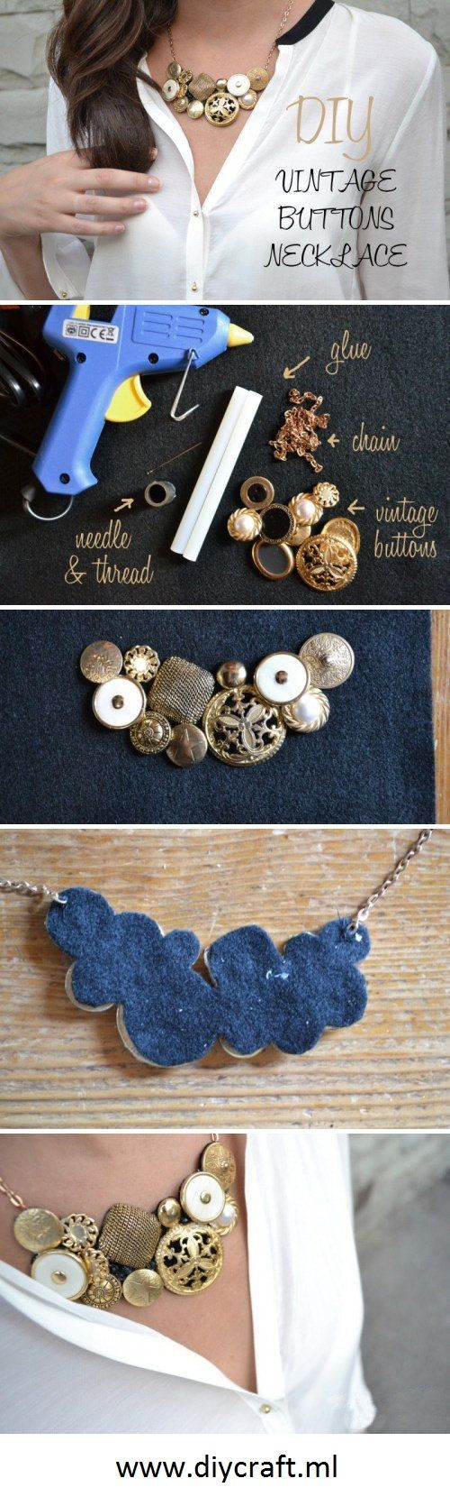 11 Easy DIY Buttons Jewelry Projects - Making Jewelry from Buttons