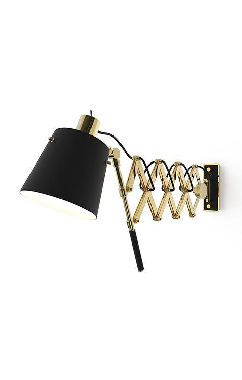 pastorius vintage extendable sconce light delightfull unique lamps