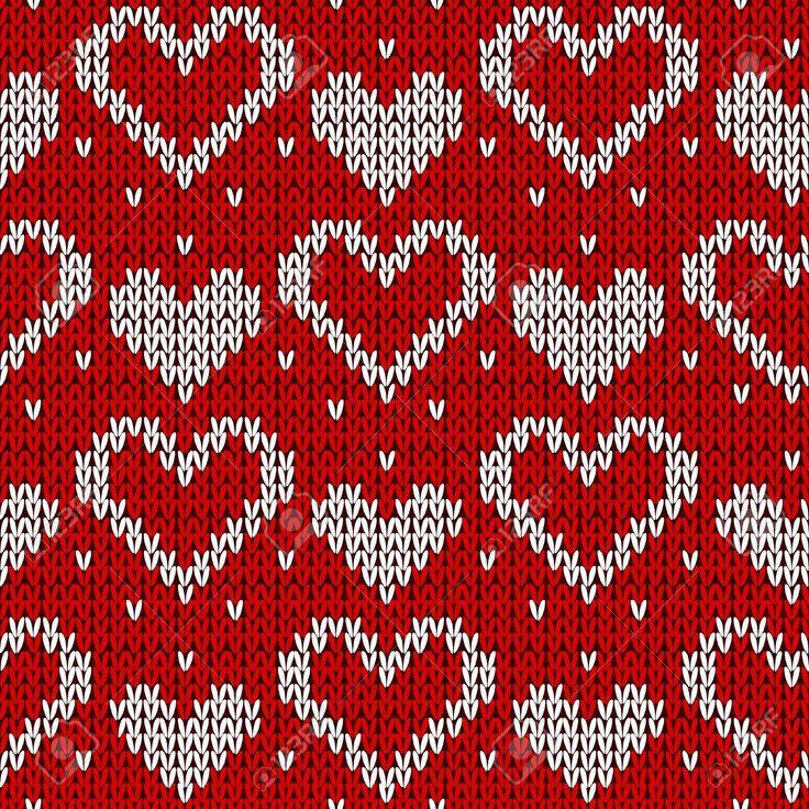Красный трикотажные фон с сердцем. Векторные иллюстрации. Фотобанк, картинки, изображения и сток Иллюстрация. Изображение 11487586.