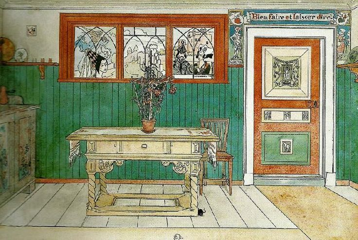 carl larsson home | matsalen Carl Larsson Wholesale Oil Painting China Picture Frame 66648