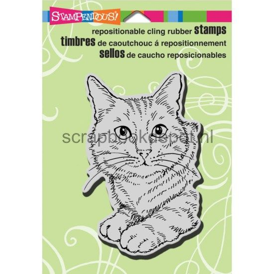 Stampendous Cling Rubber Stamp Feline Fun
