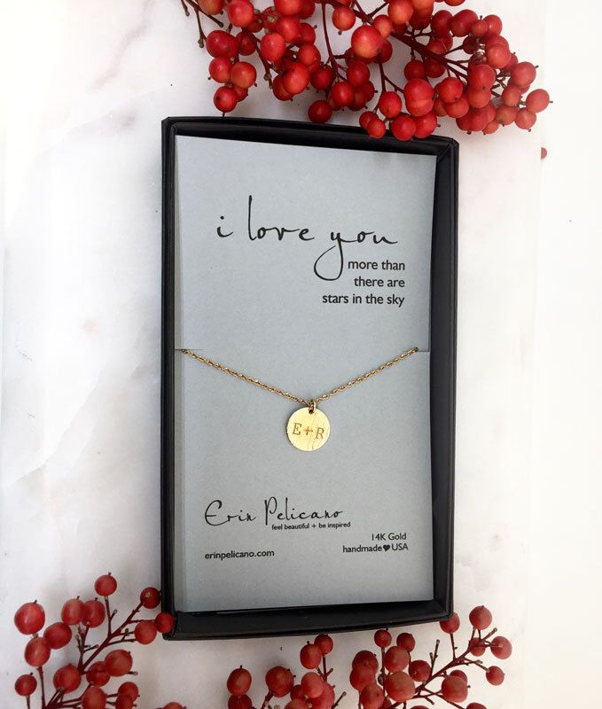 Christmas Gift for Her. Gift Ideas for Wives. Personalized Anniversary Jewelry. 14k Gold Necklace. Romantic Gift Wedding Gift. Gift for Wife