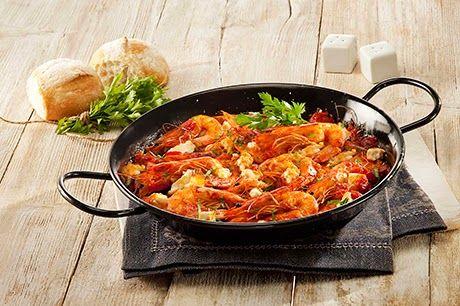 Παραδοσιακή μαγειρική: Σαγανάκι με  Φέτα και γαρίδες